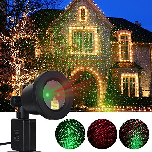 AOSTAR Christmas Laser Light Remote Control Waterproof LED Outdoor Motion Laser Light Projector for Christmas Parties, Valentine's, Home, Garden and Landscape Decorations