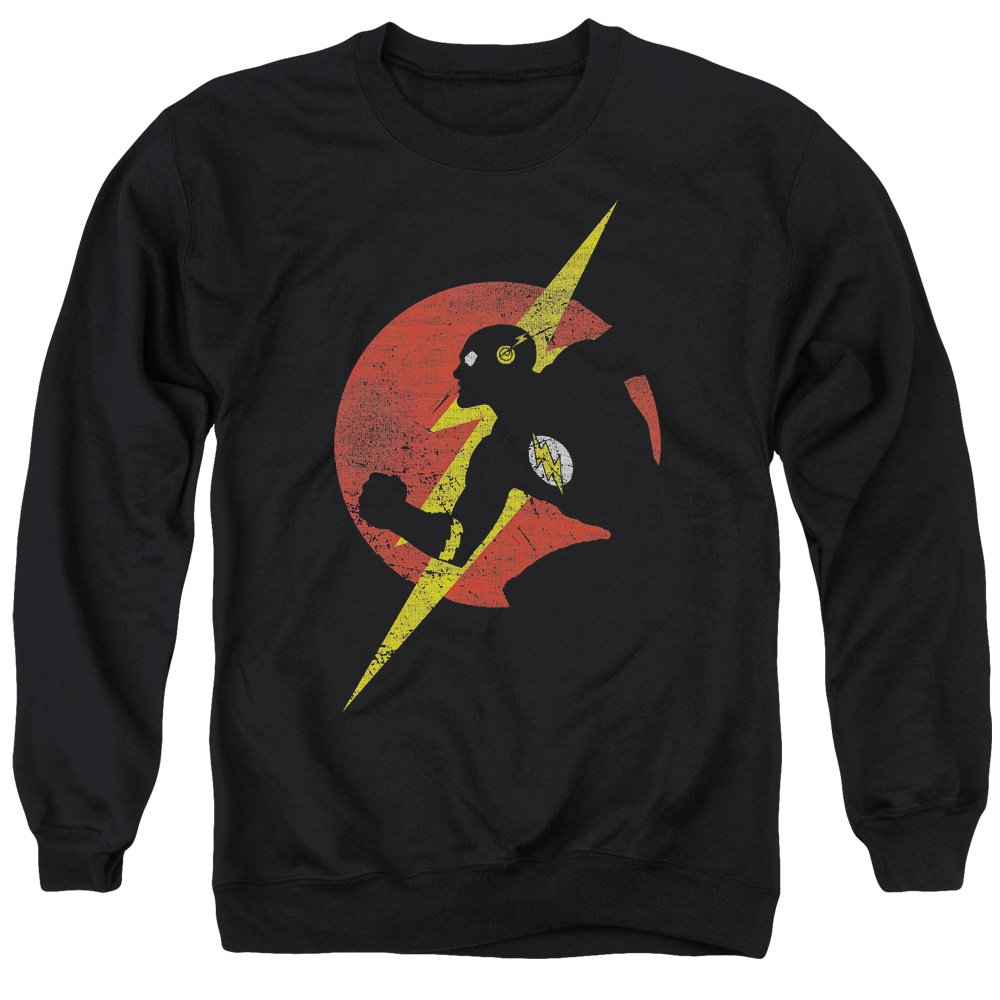 MMM Merchandising Justice League Mens Flash Symbol Knockout Sweater