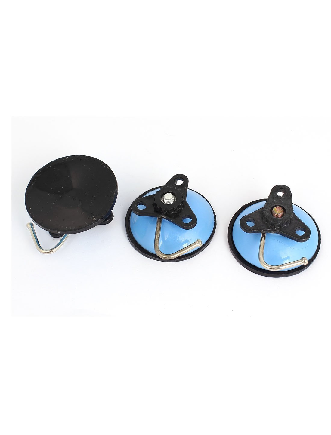 Amazon.com: eDealMax Vacío cocina ventosa ganchos Baño suspensión de la pared 3pcs Azul cian: Home & Kitchen