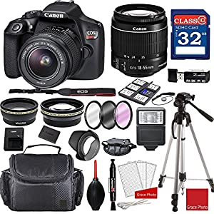 Canon EOS Rebel T6 DSLR Camera w/ EF-S 18-55mm f/3.5-5.6 IS II Lens + Professional Accessory Bundle