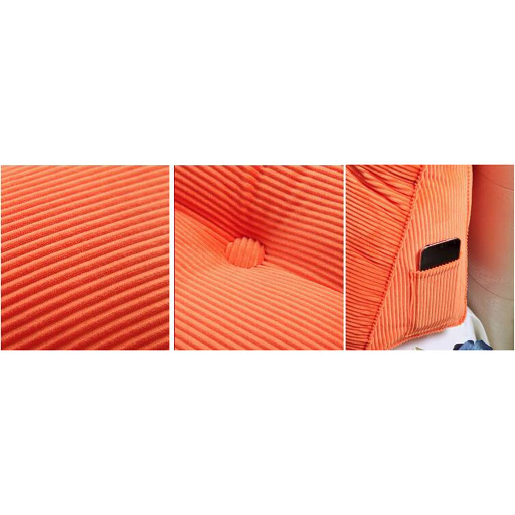 BATSDCB Cuña Triangular Cabecera Amortiguadores Traseros,Tres-Dimensional Almohadas cabecera Almohada Cojín esteras Grande Cojín Almohada Cabezal Tatami Cojín del Respaldo de Lectura-Verde 100x20x50cm(39x8x20inch) 491173