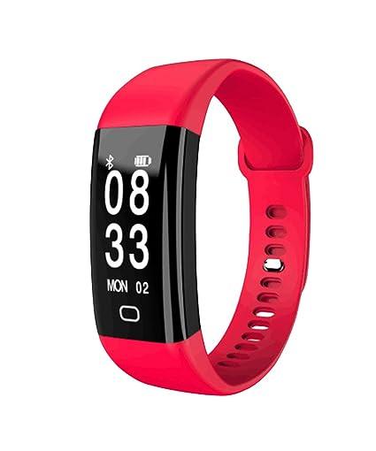 Pulsera inteligente Bluetooth pulsera podómetro Fitness Tracker reloj inteligente paso contador de calorías para hombres: Amazon.es: Relojes