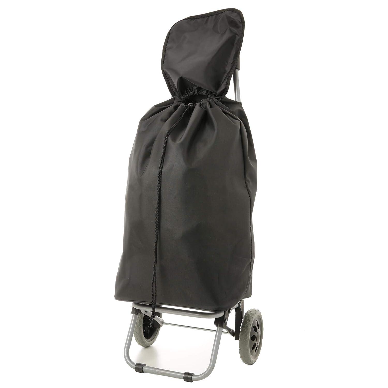 EONO Essentials 47L Chariot de Courses Poussette de march/é Caddie /à Deux Roues Noir Set de Deux