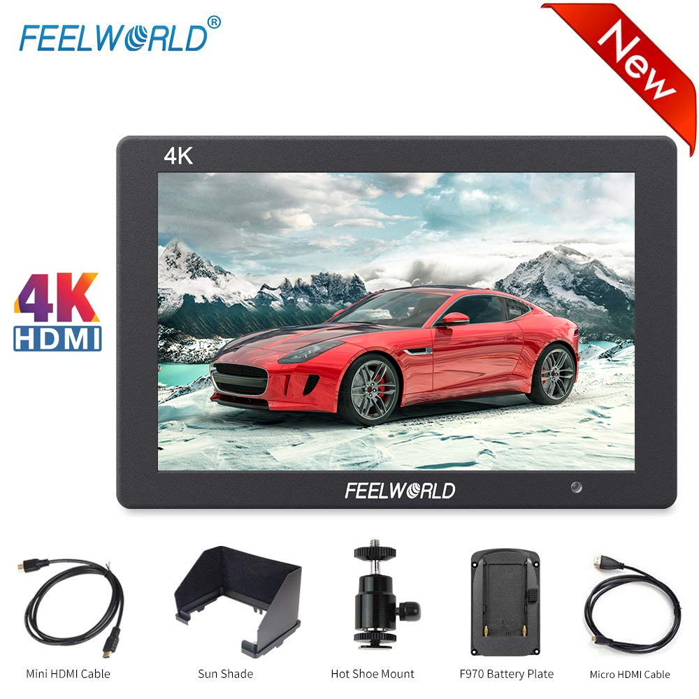 FEELWORLD T7 7 Inch DSLR Camera Field Monitor Video Assist Full HD 1920x1200 4K HDMI Input/Output,Solid Aluminum Housing DSLR Monitor with Peaking Focus False Colors by FEELWORLD