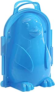 Snowball Maker Clip, Cartoon-Penguin Snow Maker, Sand Mold Tool for Snow Ball Fights for Kids and Adults, Snowball Fight Toys Perfect for Kids Play in Winter at Outdoor (Blue)