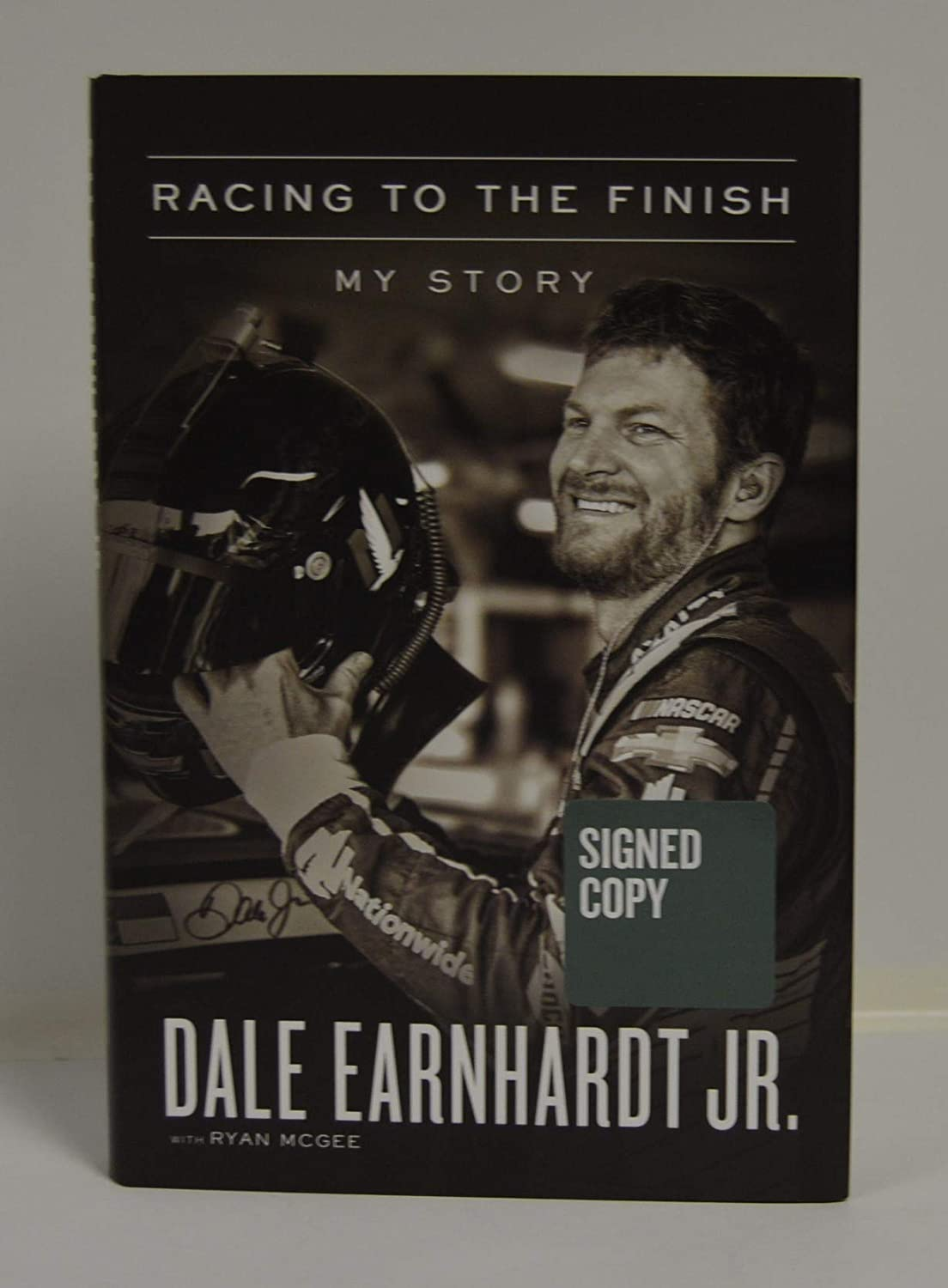 DALE EARNHARDT signed 'Racing to the Finish: My Story' Hardcover Book FIRST EDITION