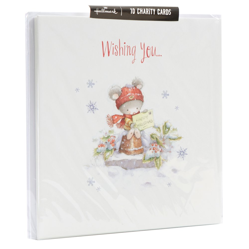 Hallmark Cute Charity Christmas Cards (Pack of 10): Amazon.co.uk ...