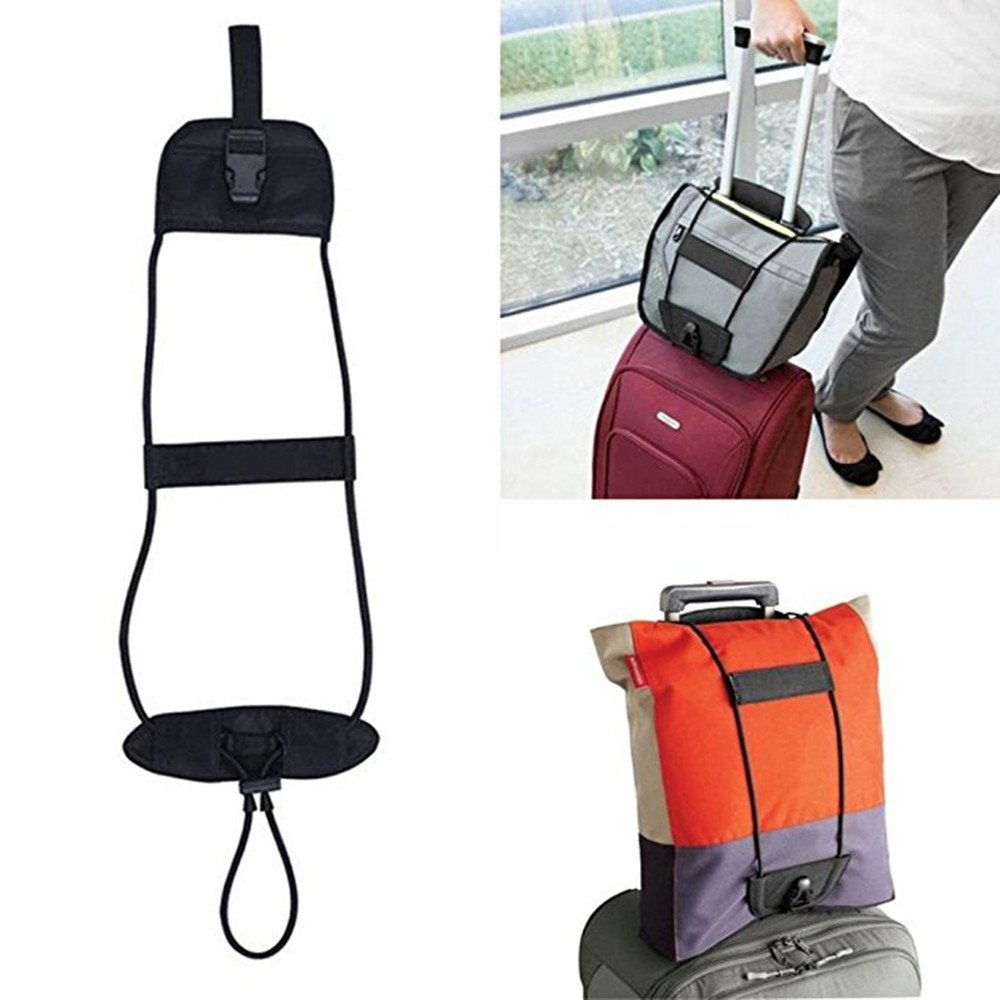 Bag Bungee, Adjustable Belt Add A Bag Strap Carry On Travel Luggage Suitcase -2Pack Luckytravel Mall