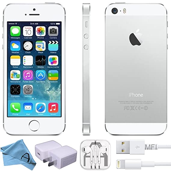Apple iPhone 5S Factory 4G LTE Unlocked GSM Smartphone (Refurbished)  (Silver, 64GB