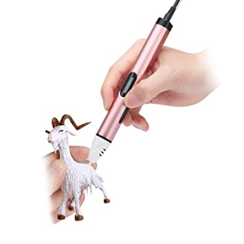 Safe Low Temperature 3D Printing Pen 3D Pen for Kids 3D Pen Gold