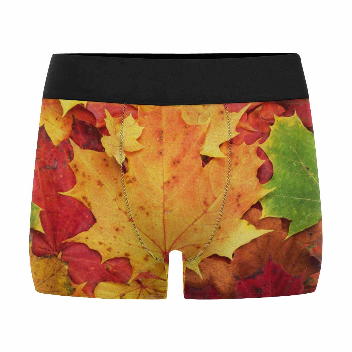 INTERESTPRINT Mens All-Over Print Boxer Briefs Maple Leaves XS-3XL