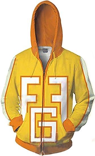 Boku no My Hero Academia Fatgum Cosplay Hoodie Zipper Sweatshirt Yellow Jacket