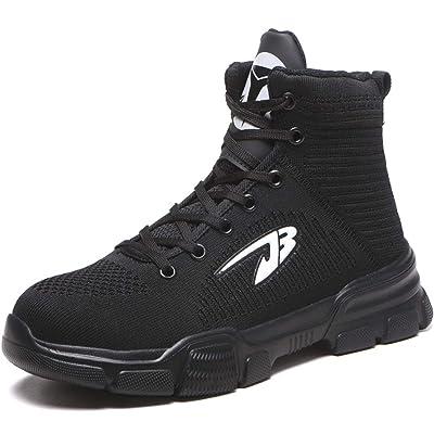 JACKSHIBO Men Women Steel Toe Work Shoes Indestructible Safety Shoes Winter Industrial Construction Slip Resistant Shoe: Shoes