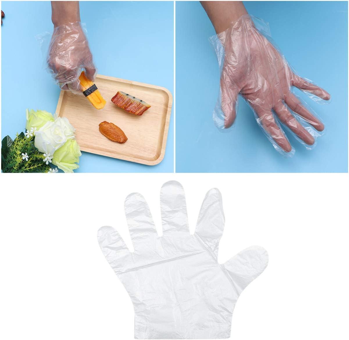 NONE 1500 Piezas de Guantes de Polietileno Transparente Limpieza de La Cocina Del Hogar Guantes de Pl/ástico Blanco Desechables para La Cocina Del Restaurante Talla /Única