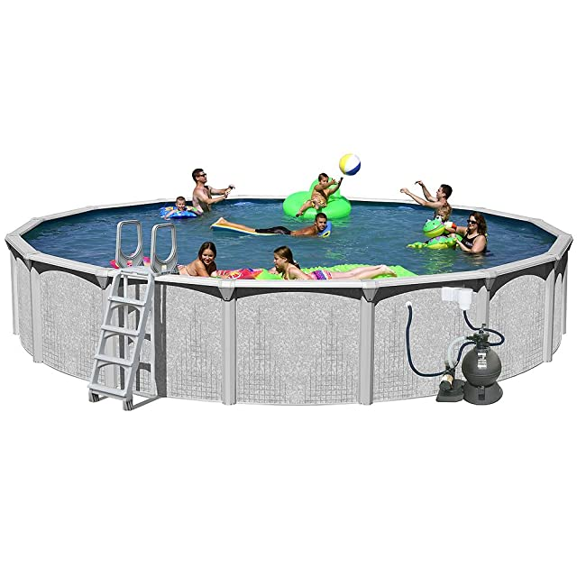 Splash Pools Above Ground Round Pool Package, 30 Feet by 52 Inch