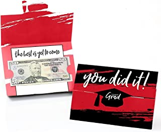 product image for Red Grad - Best is Yet to Come - Red Graduation Party Money and Gift Card Holders - Set of 8