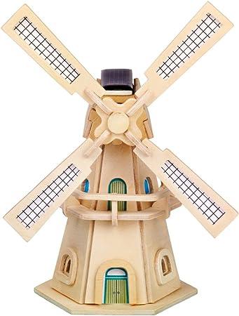 Windmühlenturm Mulino a Vento 1,55 M Opzionale con Solare Legno Torre