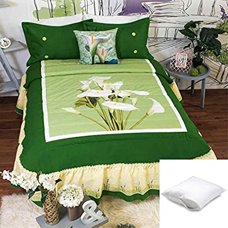 Alcatraz 10 Pc Bedspread Set King Bundled With One Pillow Protector