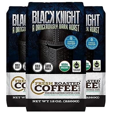 Black Knight Decaf Organic Fair Trade Coffee, Whole Bean, Water Decaf, Fresh Roasted Coffee LLC.