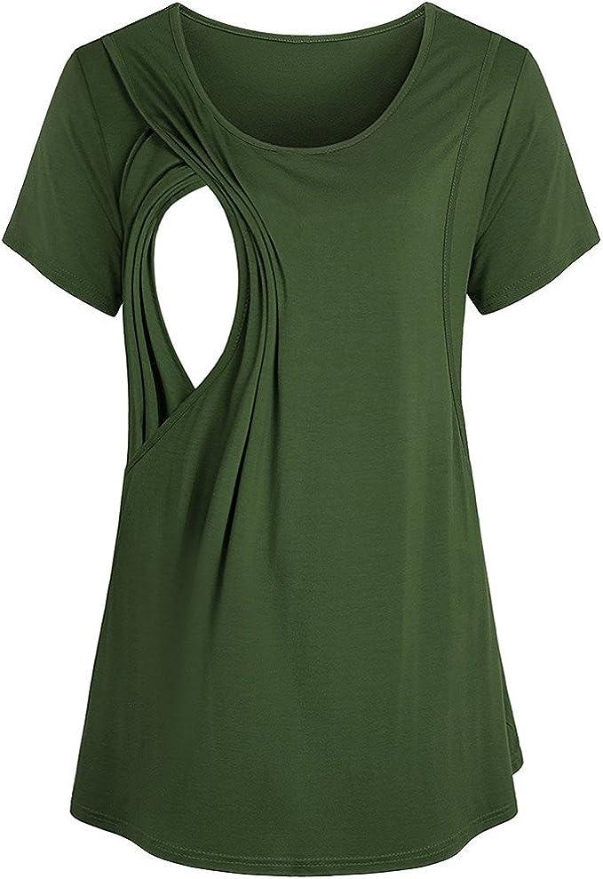 SUDADY - Camiseta de Verano 2 en 1, Modelo de Capas, Camisetas de Manga Corta, Suave, envolverla en Capa al Pecho Femenino para Mujer, Talla Grande