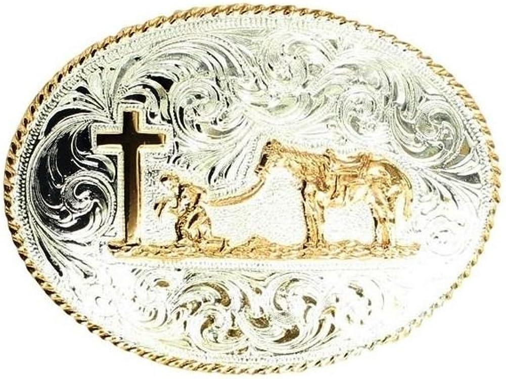 Sam Store/Ã/' Vintage Praying Belt Buckle Cowboy Native American Motorcyclist CRH-01