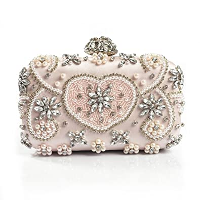f815c42eda8c2 Image Unavailable. Image not available for. Color: Luxury Crystal Evening  Bag Handmade Style Rhinestones Pearl Women Evening Bags ...