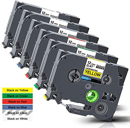 Labelwell TZe TZ Tape TZe-731 12mm x 8m Black on Green Compatible for Brother TZe731 TZ-731 Laminated Label Tape Cassette for Brother P-Touch PT-1000 PT-H110 PT-H101C PT-H105 PT-2030VP PT-P750W PTE100