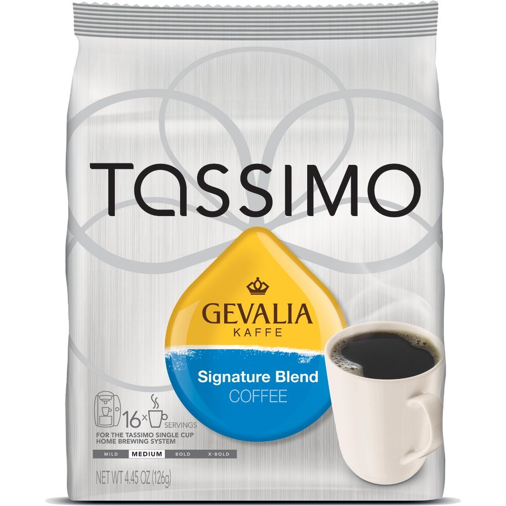 Gevalia Signature Blend Coffee, T-Discs for Tassimo Hot Beverage System, 16-Count Packages (5 Pack)