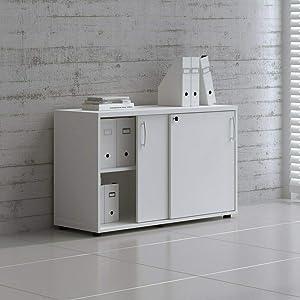 "MDD Office Furniture Standart 48"" Sliding Door Storage Unit"