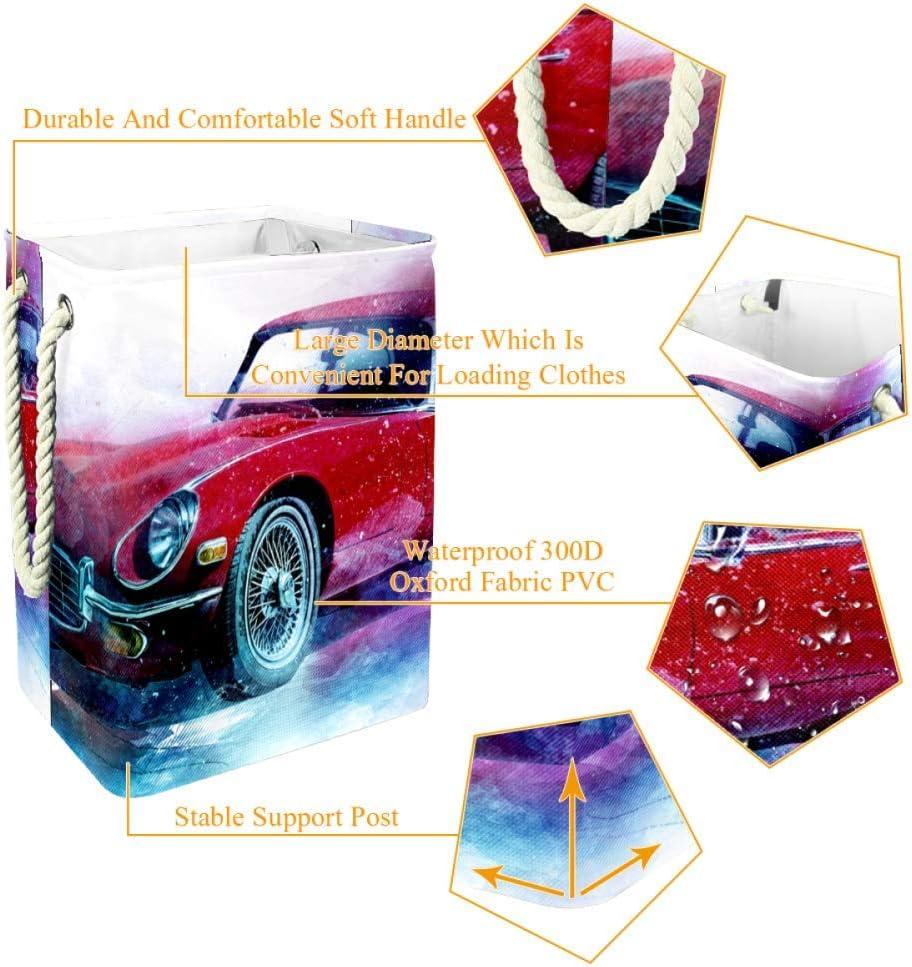 Indimization Gens Heureux Sac à Linge Rectangle en Tissu Oxford avec poignées Panier de Rangement Haute capacité 49x30x40.5 cm Color10