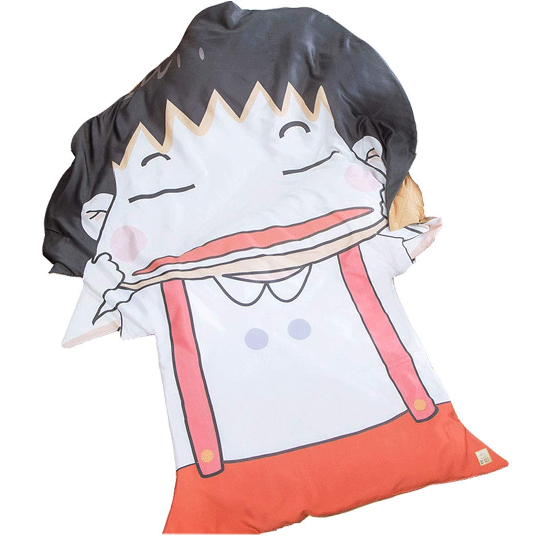 FJMM Anime Thin Quilts Chi-bi Maruko Throw Blanket 3D Print Cute Bedding Comforter Light Quilt Washable
