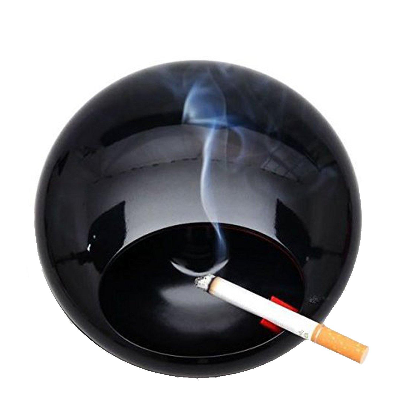 Signstek – Cenicero giratorio con tapa melamina porcelana humo hollín colector negro SC-112B