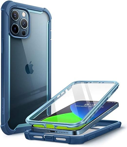 I Blason Transparent Hülle Für Iphone 12 Pro Max 6 7 Bumper Case 360 Grad Handyhülle Robust Schutzhülle Cover Ares Mit Displayschutz 2020 Blau Elektronik