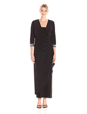 Alex Evenings Beaded Ruched Dress