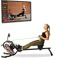 FITNESS REALITY 3000WR Bluetooth Water Rower roeiapparaat met HiIIT-workout