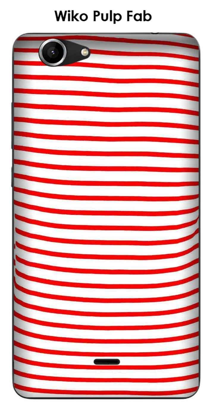 Onozo Carcasa Wiko Pulp Fab diseño marinero rojo: Amazon.es ...