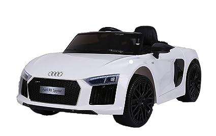 Super India® 12V Remote Audi R8 Spyder Licensed Ride On Car For Kids White 2