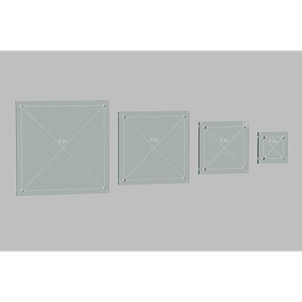 3 1 with 1//4 Seam Allowance 4 Jewel Quilting Template Set 2