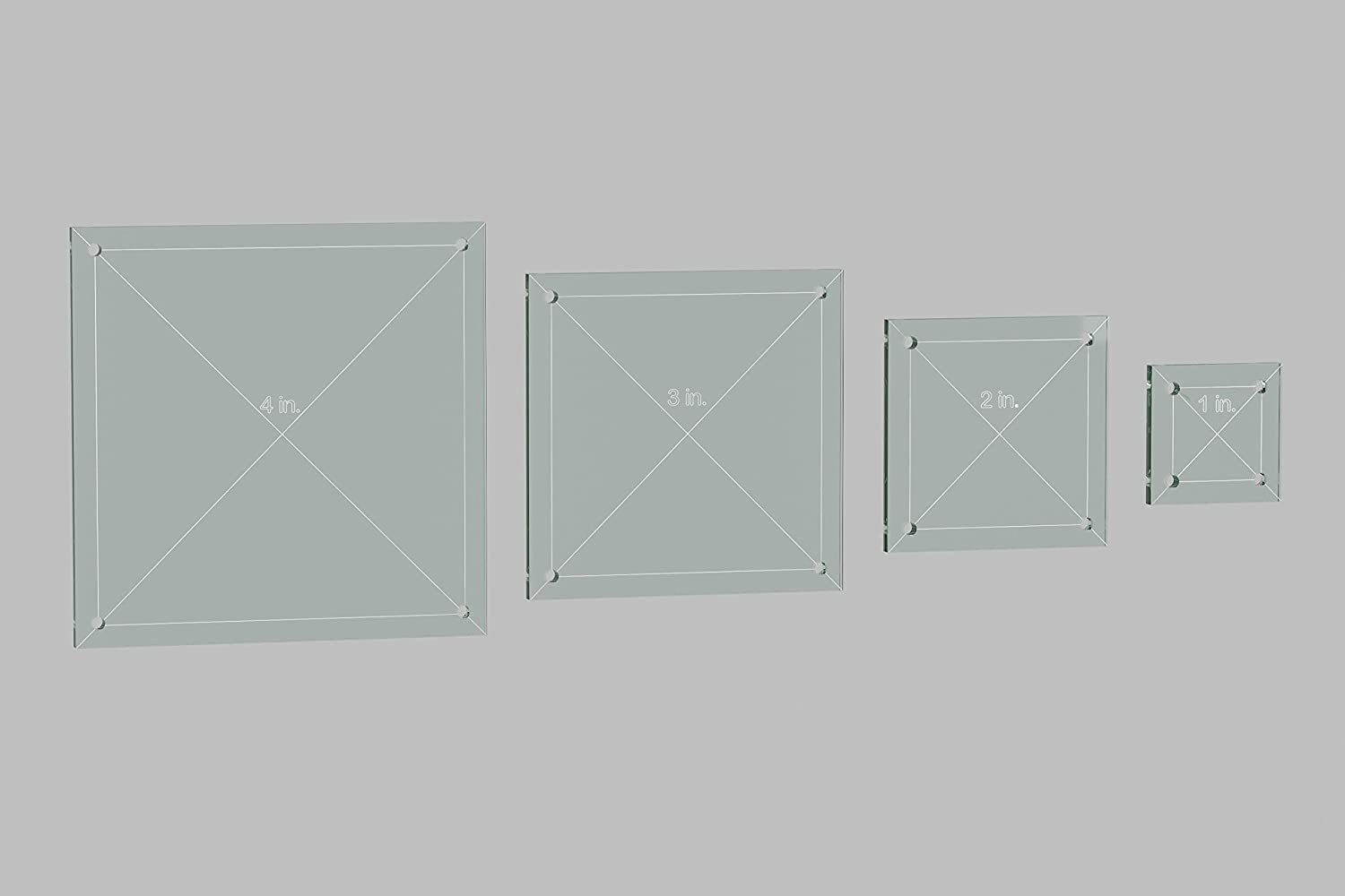 Square Quilting Template Set, 4