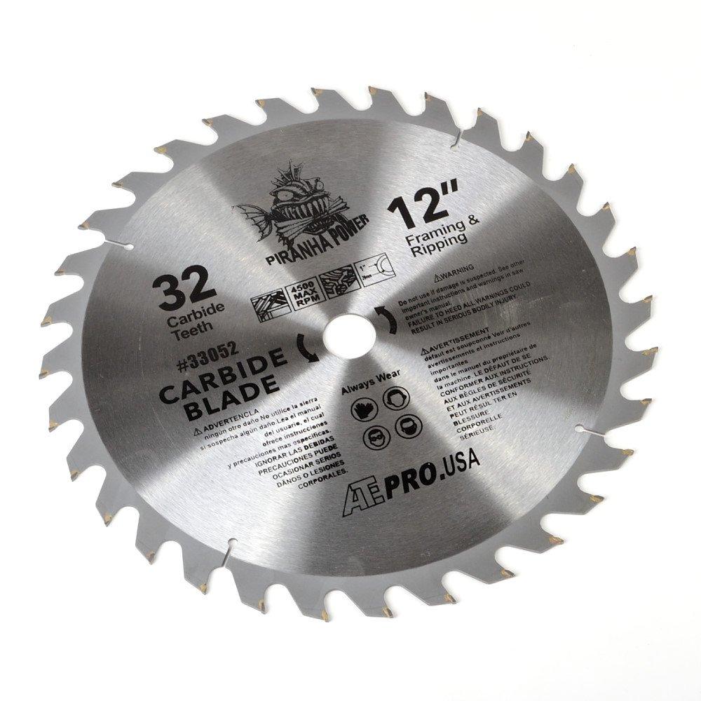ATE Pro. USA 33052 Carbide Saw Blade, 12'', 32-Teeth