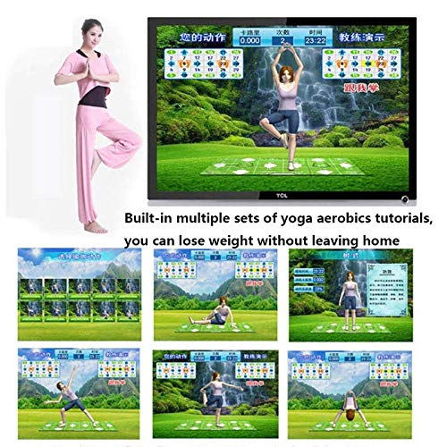 Dance mat 3D Double Yoga Somatosensory Game Machine 32g+8g Running Memory,Wireless Connections Pu Material Cozy Massage Blanket, Unlimited Update Song Game by Dance mat (Image #5)