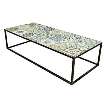 Lounge Zone Design Couchtisch Ibiza Metallgestell Tischplatte Mosaik