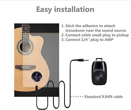 Plastikclip On Tonabnehmer für Akustikgitarre Violine Cello Mandoline Ukulele
