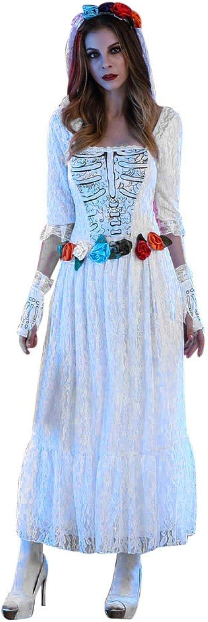 Goosun Disfraces Halloween Mujer Disfraz Novia Cadaver Halloween ...