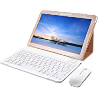 Tablet 10 Pulgadas Android 8.0 3GB RAM 32 GB de Memoria 4G WiFi Tablet PC Quad-Core Batería 7000mAh Dual SIM GPS Bluetooth Netflix (Gold)