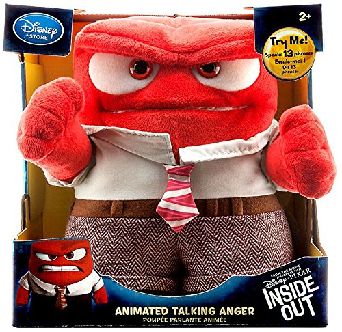 Disney   Pixar Inside Out Anger Animated 9  Talking Plush