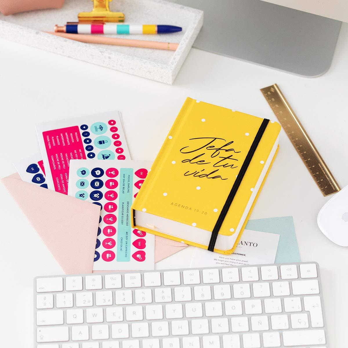 Amazon.com : 19-20 Daily Diary Head Yellow. Mini : Office ...