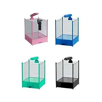 Mini acuario completo de Quattro colores HOPAR H-250 15 L 25 X 25 X 36H cm, negro: Amazon.es: Deportes y aire libre