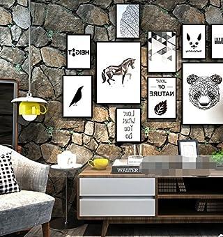 Poowef Wallpaper Wallpaper Foto 53X100 Cm- Non-Woven Tapiz : Diseño De Papel Tapiz Papel Tapiz Mural Moderna Decoración De Paredes De Piedra Veteado -3D,D Papel Tapiz