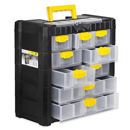 Small Parts Storage Cabinet Toolbox Compartment Box 9